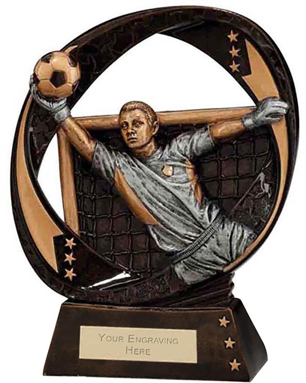 """Typhoon Goalkeeper Trophy 19cm (7.5"""")"""