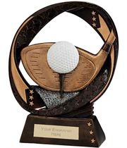 "Typhoon Golf Driver Trophy 17cm (6.75"")"