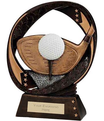 "Typhoon Golf Driver Trophy 19cm (7.5"")"
