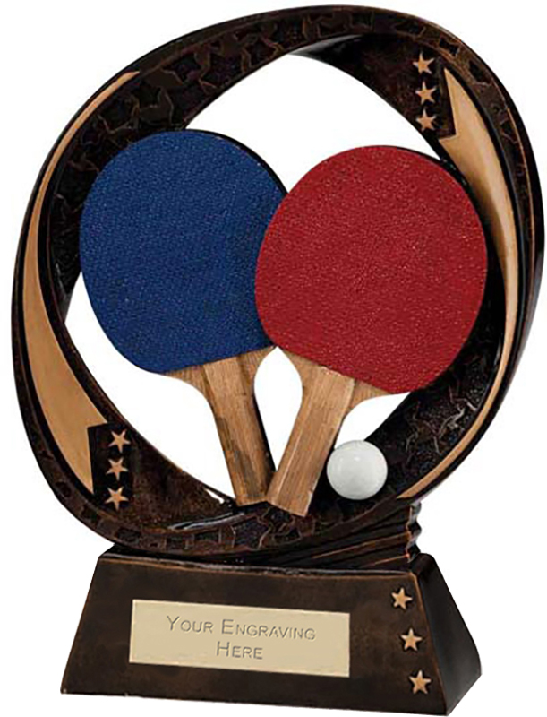 "Typhoon Table Tennis Trophy 17cm (6.75"")"
