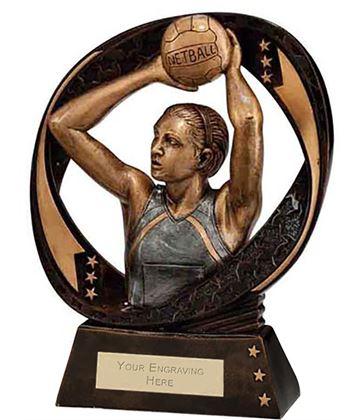 "Typhoon Netball Trophy 17cm (6.75"")"