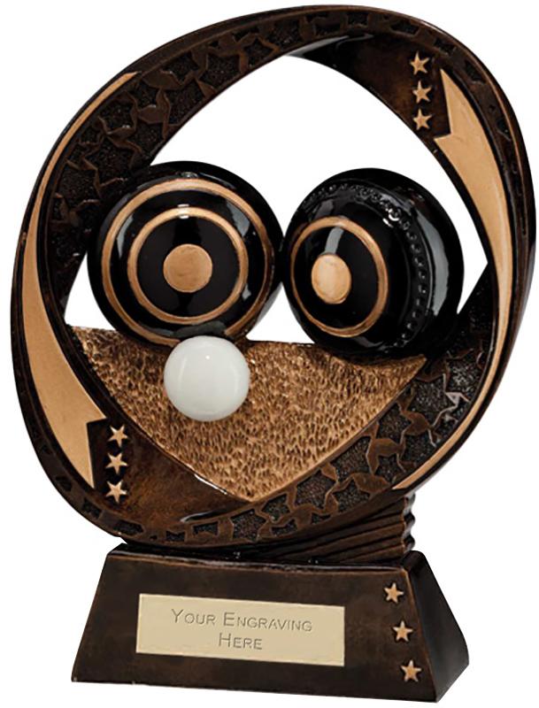 "Typhoon Lawn Bowls Trophy 17cm (6.75"")"