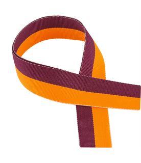 "Maroon & Orange Medal Ribbon 76cm (30"")"