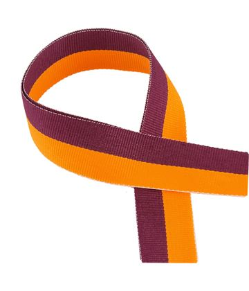 "Maroon & Orange Medal Ribbon 76cm (30"")"