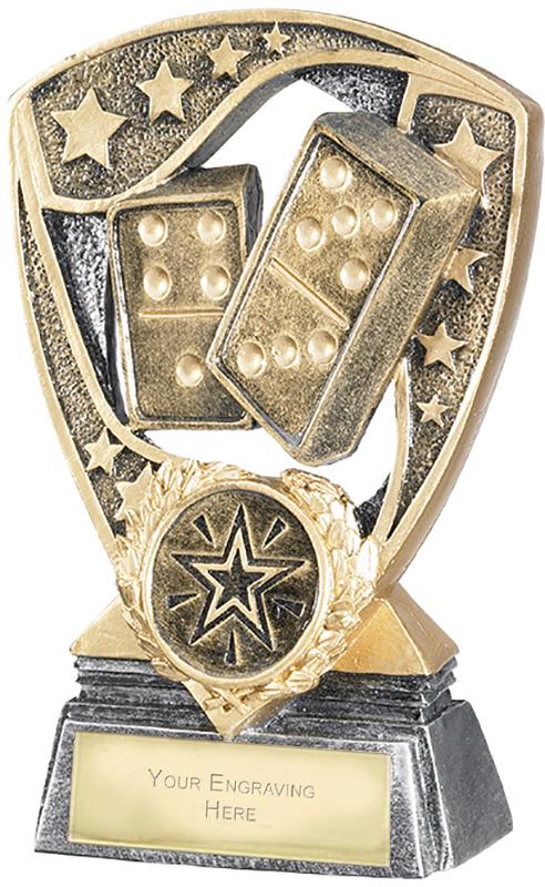 "Challenger Shield Dominoes Award 12cm (4.75"")"