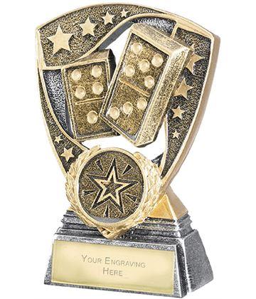 "Challenger Shield Dominoes Award 11cm (4.25"")"