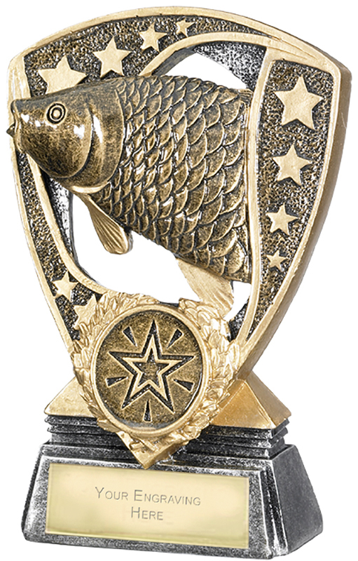 "Challenger Shield Fishing Award 12cm (4.75"")"