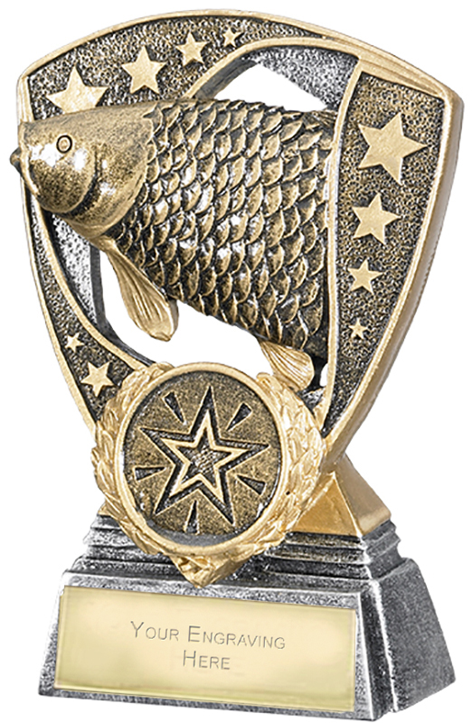 "Challenger Shield Fishing Award 11cm (4.25"")"