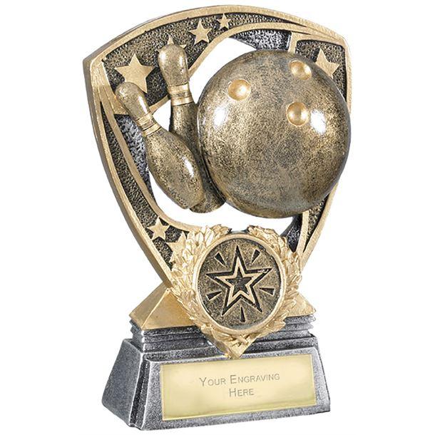 "Challenger Shield Ten Pin Bowling Award 12cm (4.75"")"