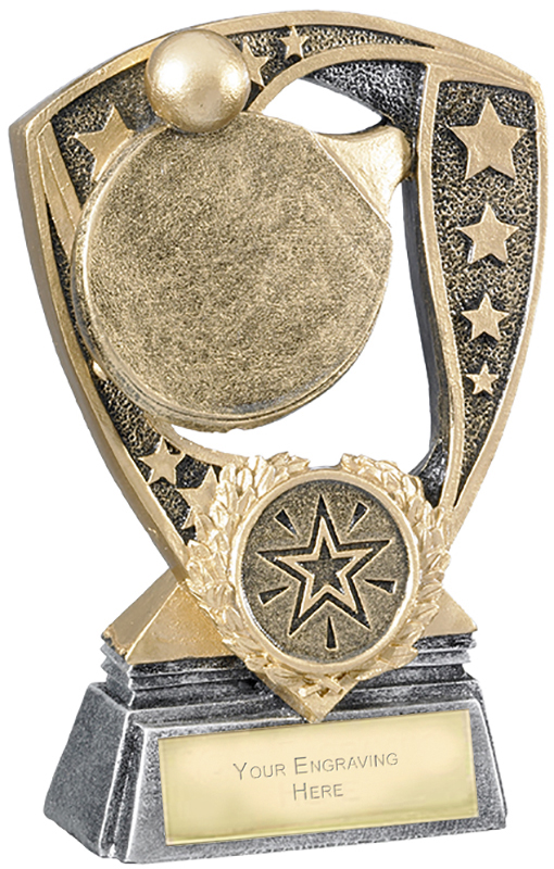 "Challenger Shield Table Tennis Award 12cm (4.75"")"