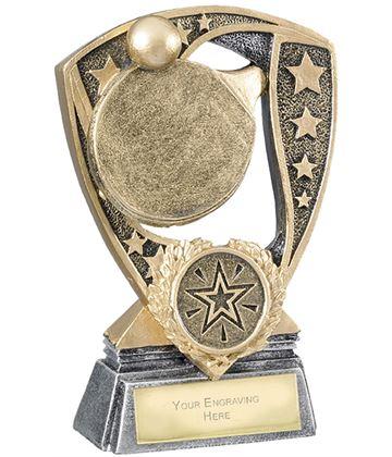 "Challenger Shield Table Tennis Award 12cm (4.75"")"
