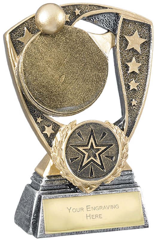 "Challenger Shield Table Tennis Award 11cm (4.25"")"