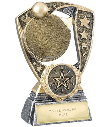 "Challenger Shield Table Tennis Award 11cm (4.25"")"