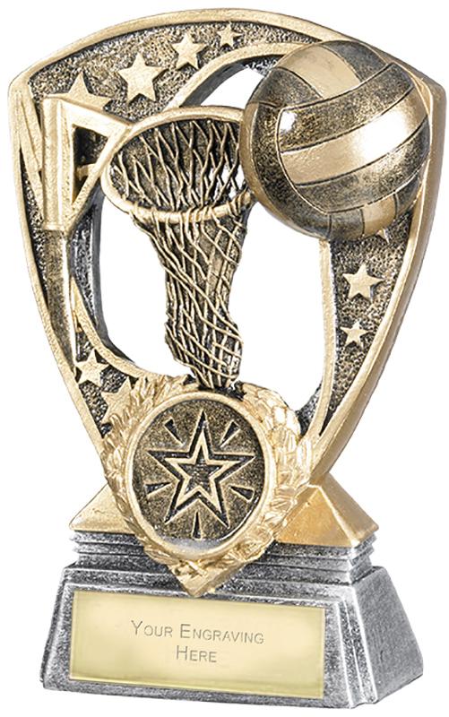 """Challenger Shield Netball Award 12cm (4.75"""")"""