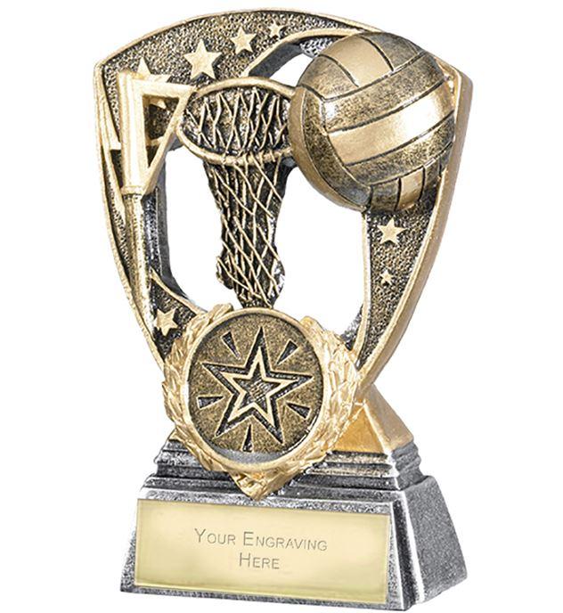 """Challenger Shield Netball Award 11cm (4.25"""")"""