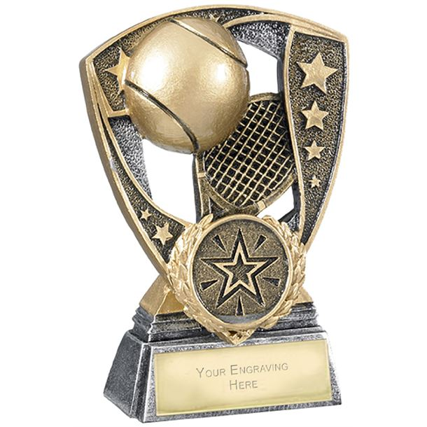 "Challenger Shield Tennis Award 11cm (4.25"")"