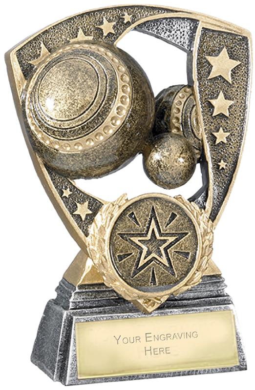 "Challenger Shield Lawn Bowls Award 11cm (4.25"")"