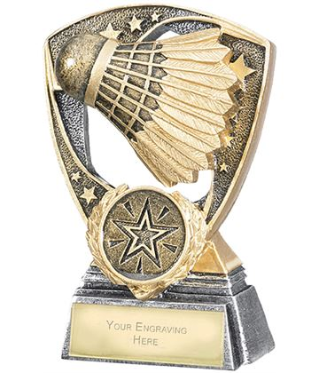 "Challenger Shield Badminton Award 11cm (4.25"")"