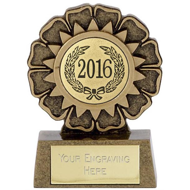"2016 Resin Mini Star Rosette Trophy 6.5cm (2.5"")"