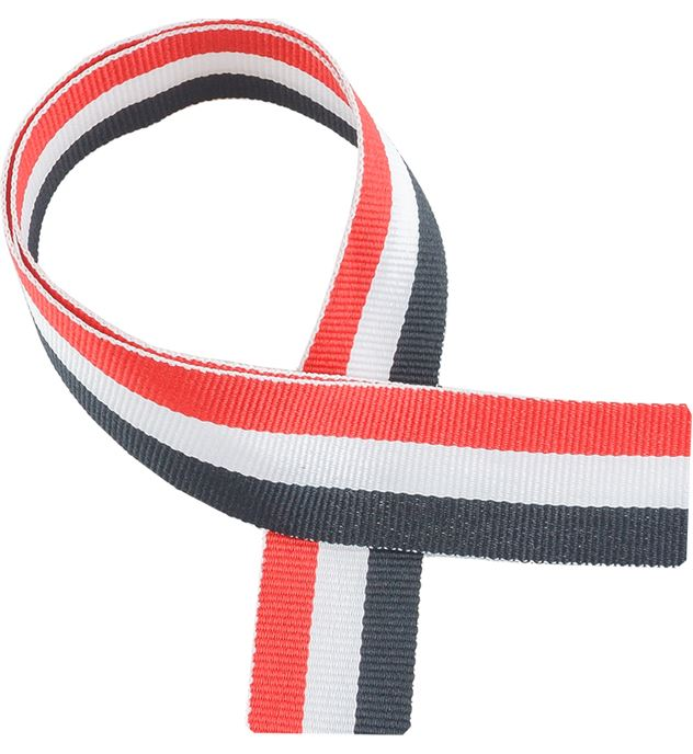 "Red, White & Black Medal Ribbon 80cm (32"")"