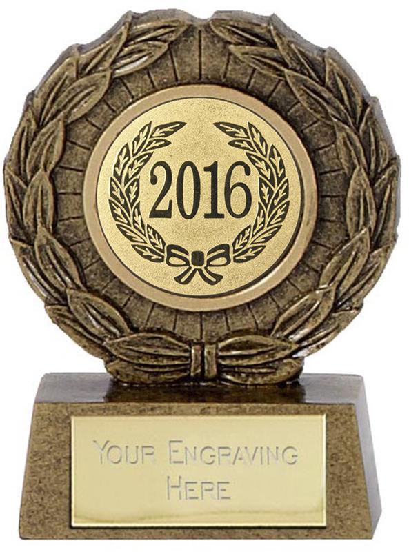"2016 Resin Mini Star Laurel Wreath Trophy 6.5cm (2.5"")"
