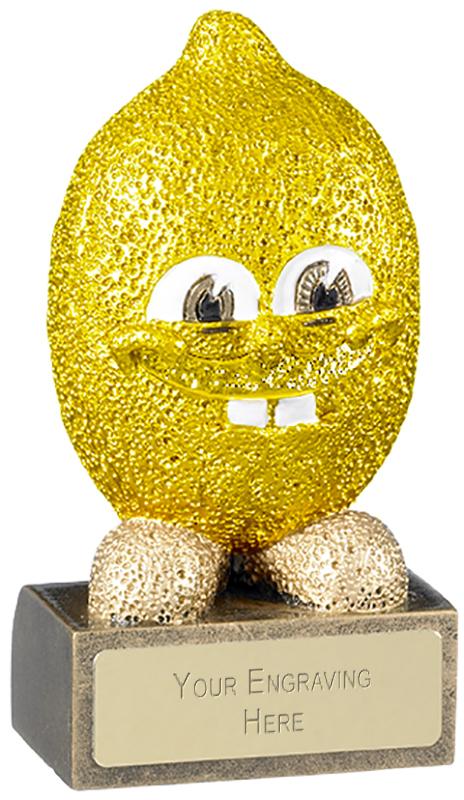 "Novelty Lemon Trophy 10cm (4"")"