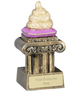 "Novelty Golden Poo Trophy 12cm (5"")"
