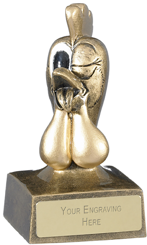 "Gold Novelty Cock Trophy 10cm (4"")"
