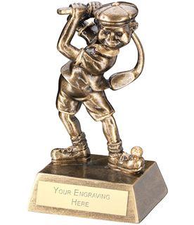 """Antique Gold Male Comic Golf Figure Trophy 14cm (5.5"""")"""
