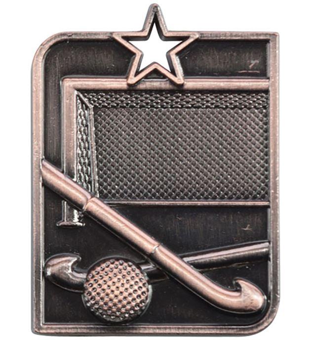 "Bronze Centurion Star Hockey Square Medal 53mm x 40mm (2.25"" x 1.5"")"