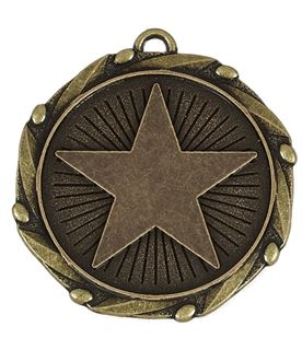 "Gold Star Medal with Red, White & Blue Ribbon 45mm (1.75"")"