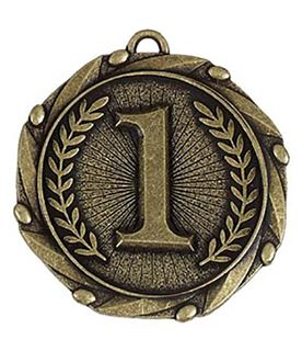 "Gold 1st Place Medal with Red, White & Blue Ribbon 45mm (1.75"")"
