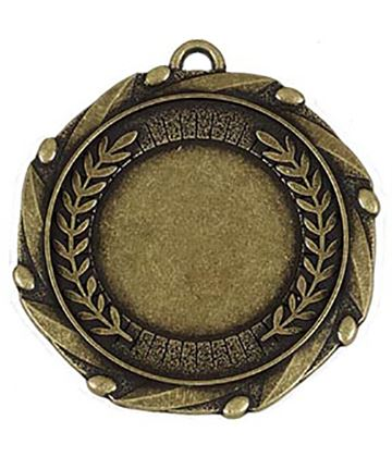 "Gold Laurel Wreath Medal & Centre with Ribbon 45mm (1.75"")"