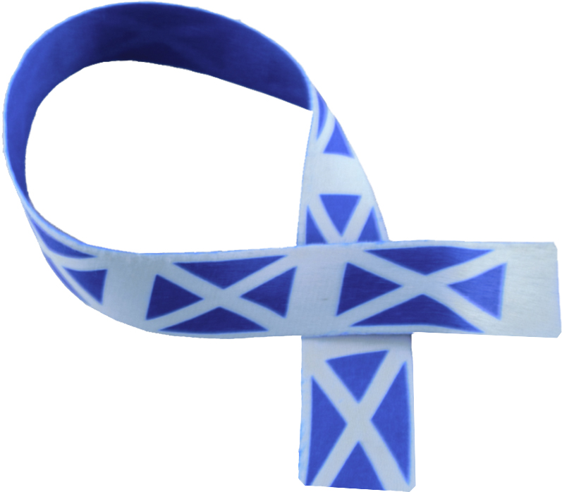 "Scottish Flag Print Medal Ribbon 76cm (30"")"