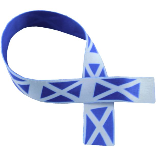 "Scottish Flag Print Medal Ribbon 80cm (32"")"