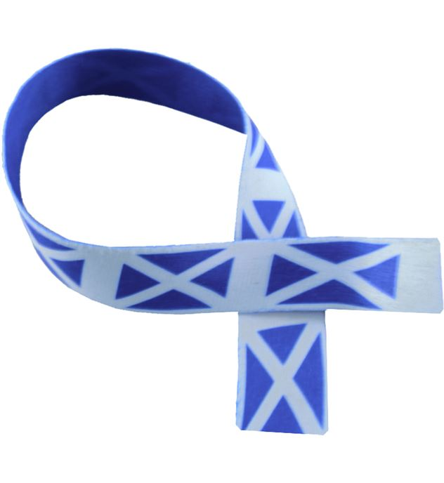 "Scottish Flag Print Medal Ribbon 80cm (32"")"