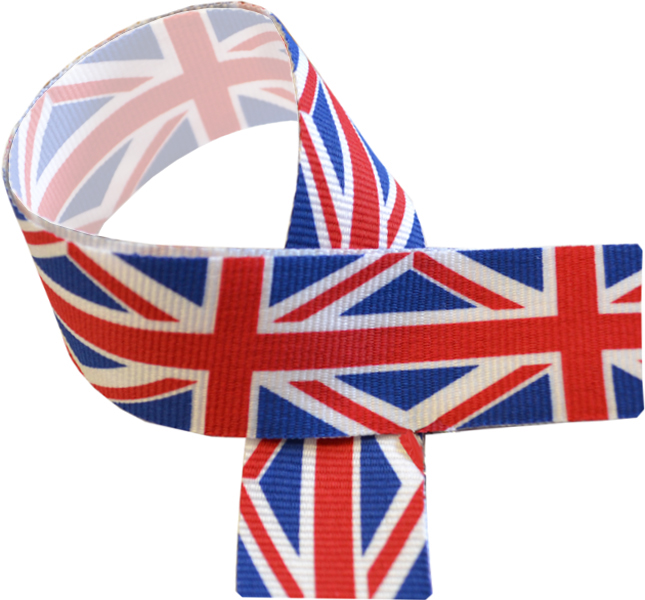 "Union Jack Medal Ribbon 76cm (30"")"