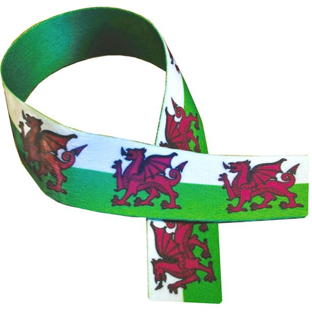 "Welsh Dragon Print Medal Ribbon 80cm (32"")"