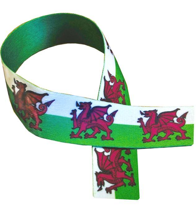 "Welsh Dragon Print Medal Ribbon 80cm (32"")"