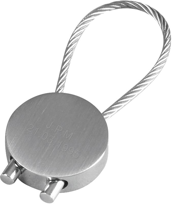 "Solid Brass Nickel Plated Keyring 6.5cm (2.5"")"