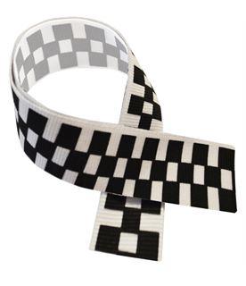 """Motor Sport Black & White Medal Ribbon 76cm (30"""")"""