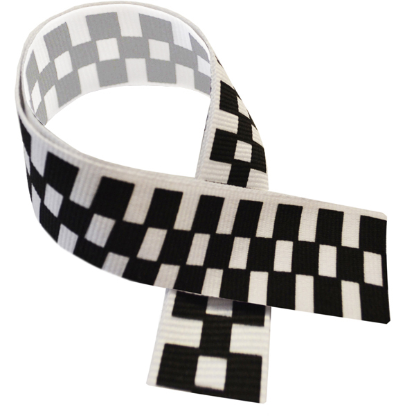 "Motor Sport Black & White Medal Ribbon 76cm (30"")"