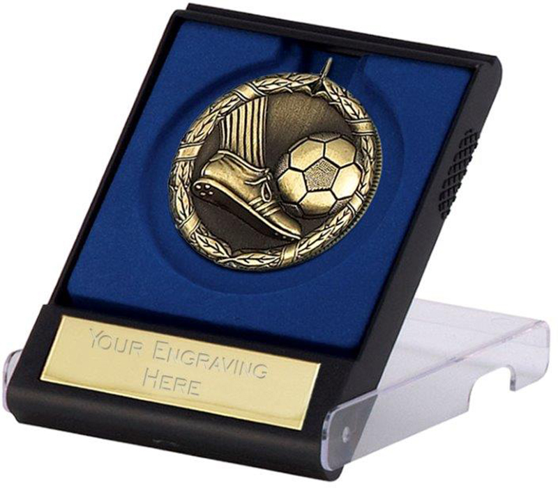 "Laurel Football Gold Medal with Presentation Case 50mm (2"")"