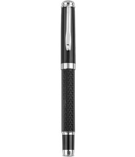 "Black Carbon Fibre Finish Roller Ball Pen 14cm (5.5"")"