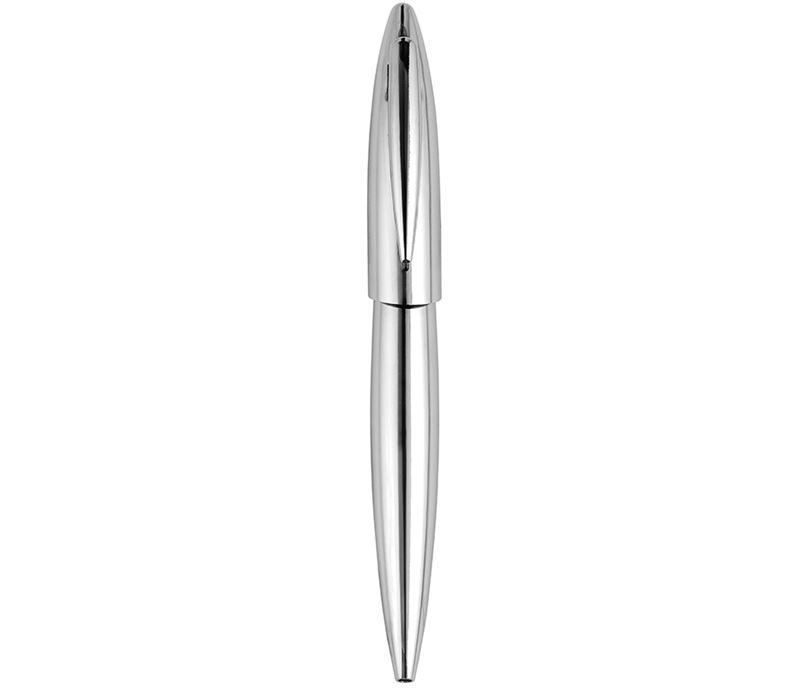 "Shiny Chrome Finish Ball Point Pen 14cm (5.5"")"