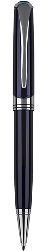 """Shiny Blue & Silver Thick Stem Ball Point Pen 14cm (5.5"""")"""
