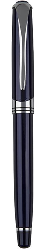 "Shiny Blue & Silver Thick Stem Roller Ball Pen 14cm (5.5"")"