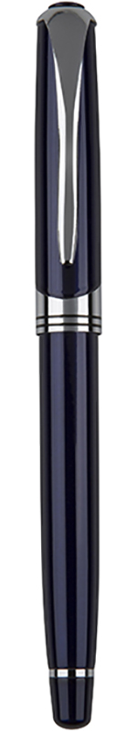 "Shiny Blue & Silver Thick Stem Roller Ball Pen 14cm (5.5"")"