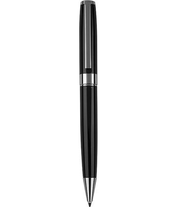 "Black & Silver Ball Point Pen 14cm (5.5"")"