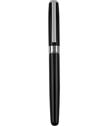 "Black & Silver Roller Ball Pen 14cm (5.5"")"